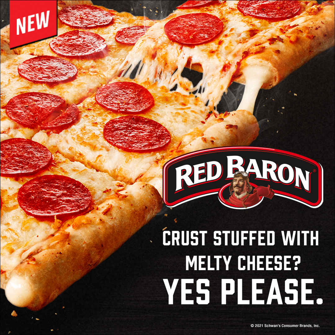Red Baron® Crust stuffed with Melty Cheese? Yes Please.