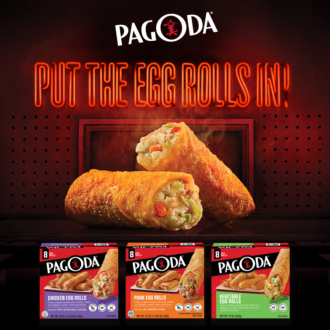 PAGODA Put the egg rolls in.
