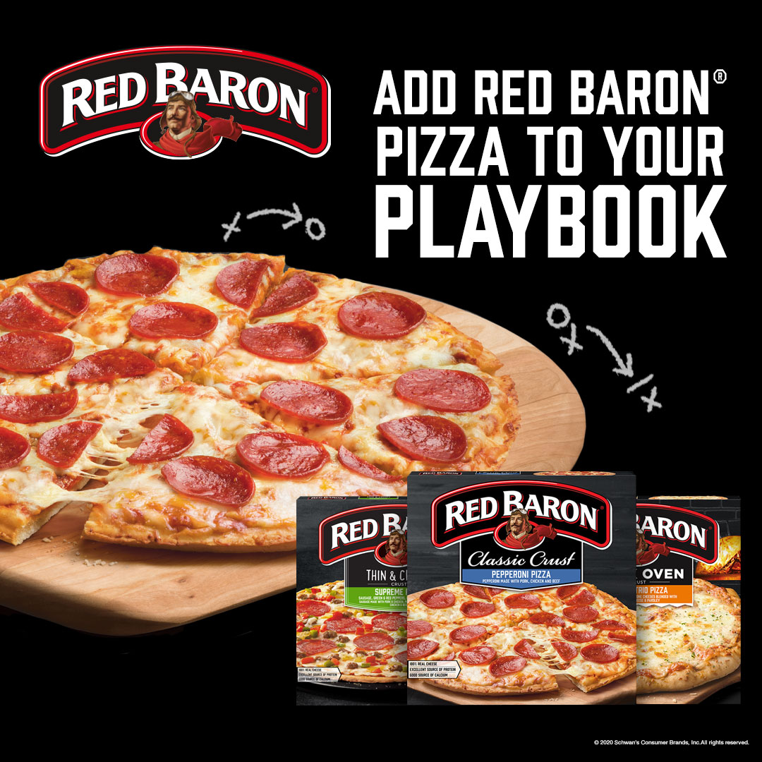 Add Red Baron pizza to your playbook.